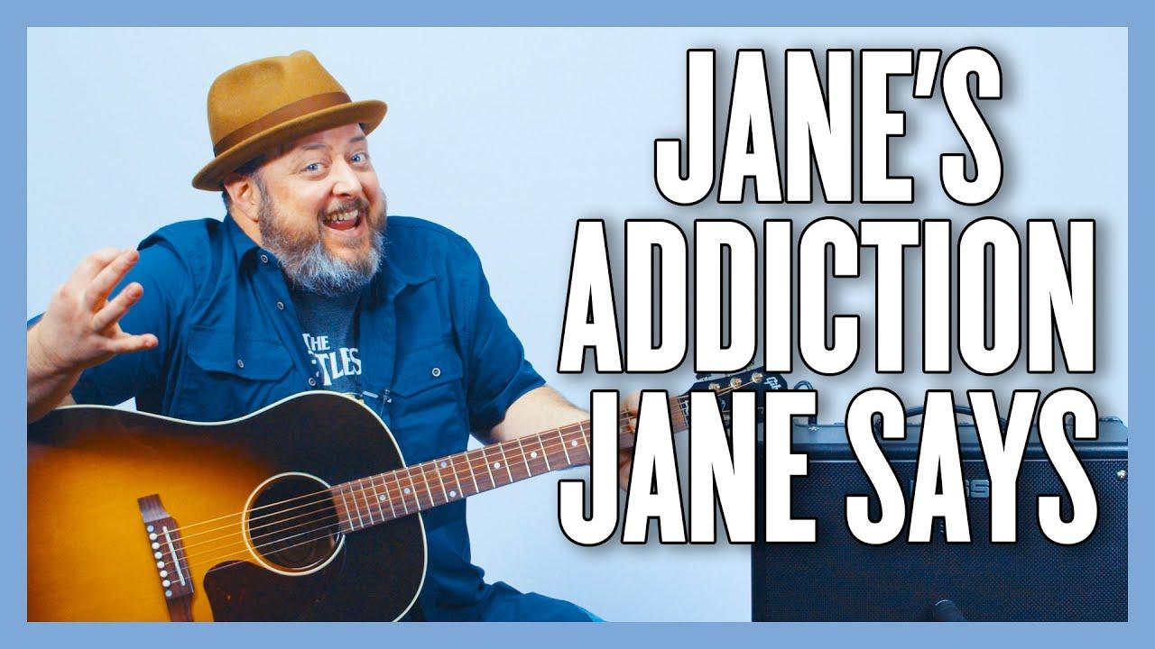 Jane's Addiction Jane Says Guitar Lesson + Tutorial