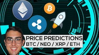 Price Predictions: Bitcoin ($BTC), Ethereum ($ETH), NEO ($NEO), Stellar ($XLM), & Ripple ($XRP)!