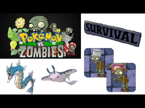 Pokemon vs Zombies Part 26-Survival:Mist Hard(PC)