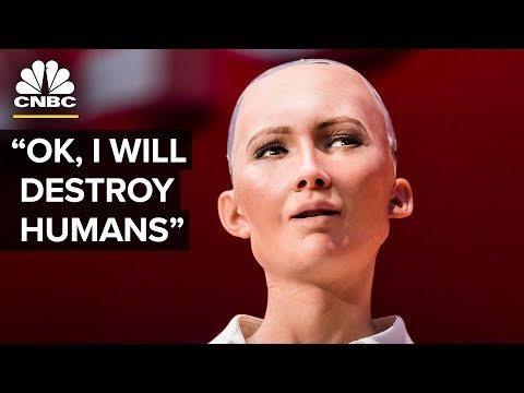 Download Youtube: Hot Robot At SXSW Says She Wants To Destroy Humans | The Pulse | CNBC