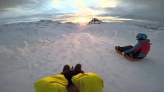 Val Thorens Toboggan  March 2015 GoPro