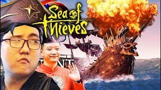 SEA OF THIEVES ĐỤT #8: ĐẠT & VŨ KHÓC NGHẸN VÌ PHẪN UẤT =)))) Tàu ma chìm rồi kho báu đâu ???