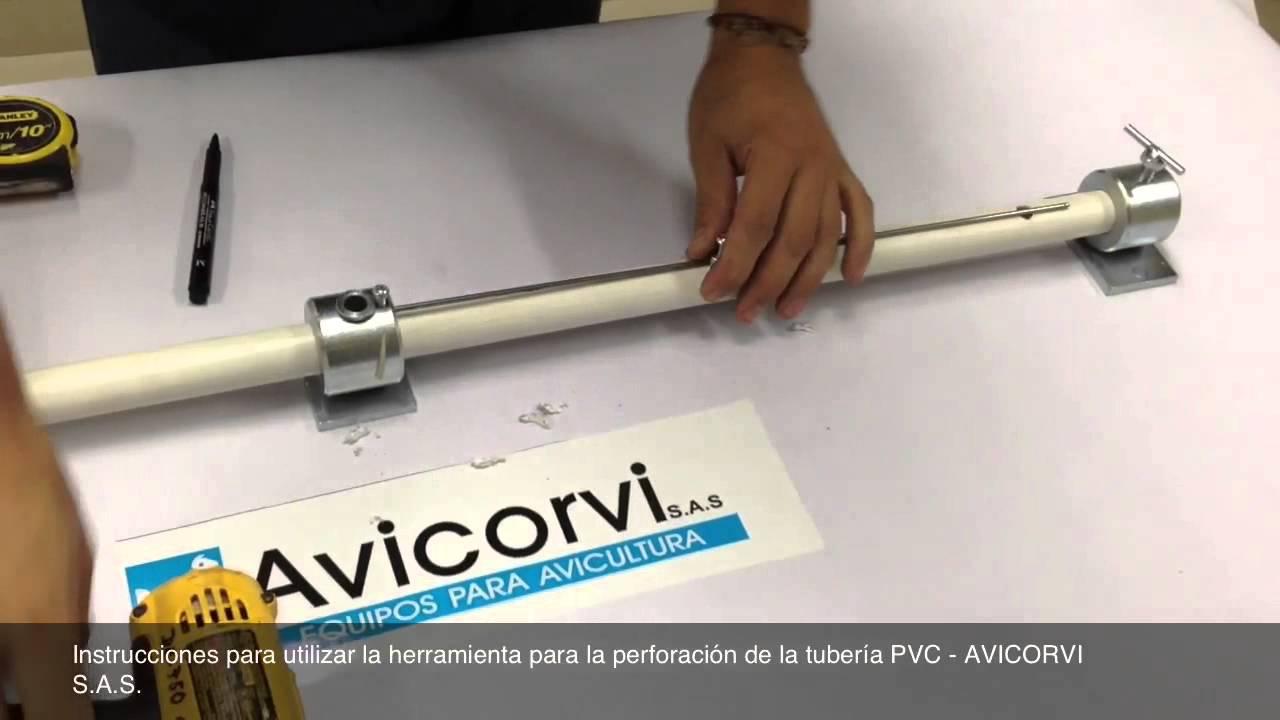 Instrucciones herramienta para perforar tuber a pvc para for Herramientas para desatascar tuberias