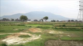 Howrah New Delhi Duronto Express Cruises Past the Parasnath Hills