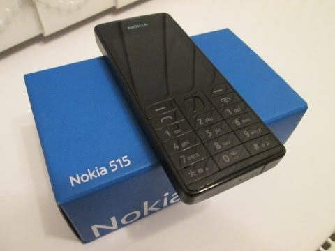 Nokia 515 Mobile Phone Cell Phone Review, New Nokia 2013, English Review.