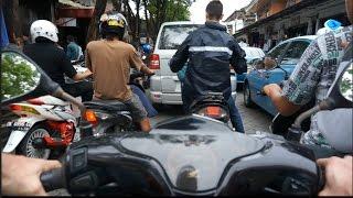 Bali  Traffic, Motorbike ride, In 7:20 I little hit motorbike before me.