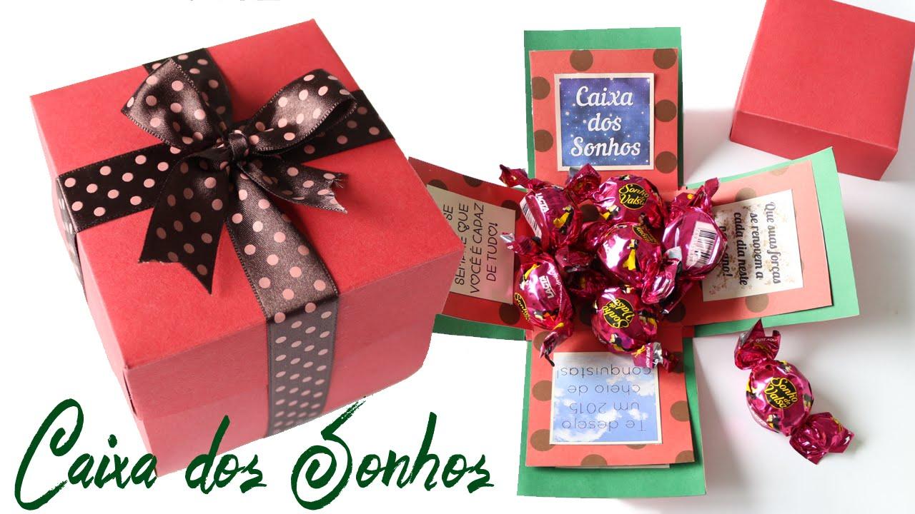 Caixa Dos Sonhos Presente Para Amigos E Familiares No Natal Youtube