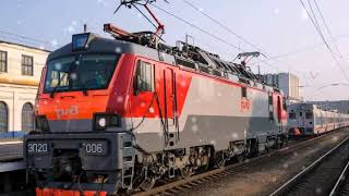 Железная дорога Клип про поезда!!!!!