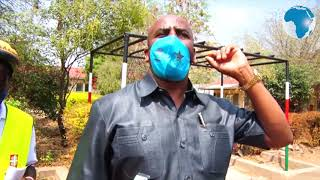 Isiolo Commissioner lauds 27-year-old Fredrick Ochieng who cycles sensitising Kenyans on virus