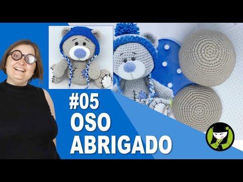 OSO NAVIDEÑO AMIGURUMI 05 oso tejido a crochet