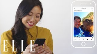 Awkwafina Insta-Stalks Her Crazy Rich Asians Co-Stars | Insta-Stalk | ELLE