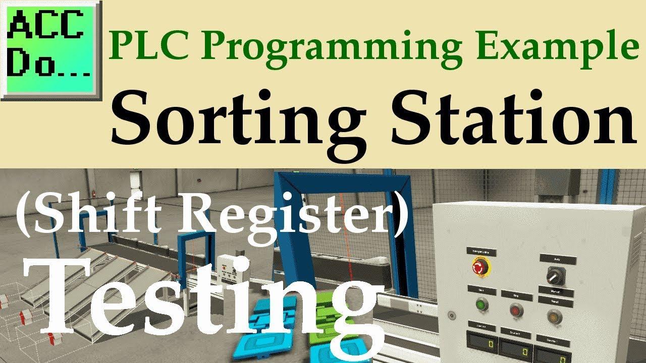 PLC Programming Example – Shift Register (Conveyor Reject
