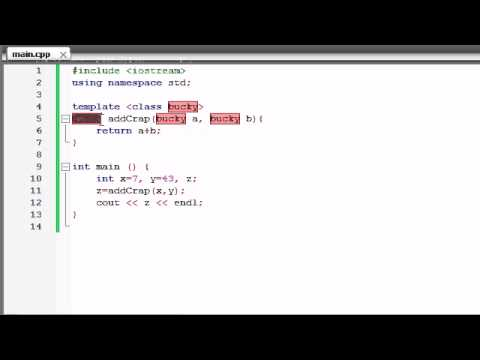 Buckys C++ Programming Tutorials - 58 - function Templates