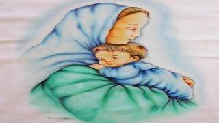Pintura de Maria e o Menino Jesus