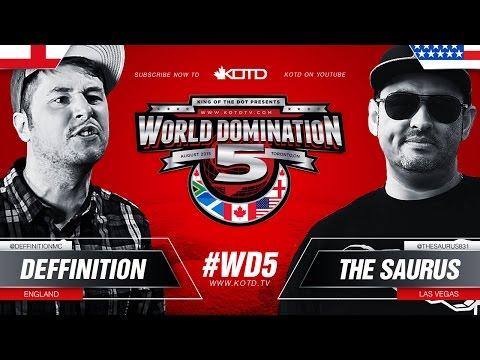 KOTD - Rap Battle - Deffinition vs The Saurus   #WD5