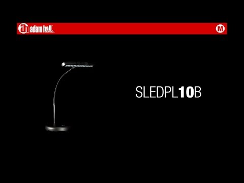 Adam Hall Stands SLED PL 10 B - LED Piano Lamp with 10 LEDs