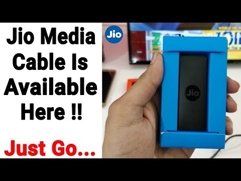 Jio Media Cable Is Available Here !!