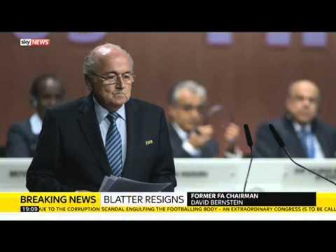 Former FA Chairman David Bernstein On Sepp Blatter's Resignation