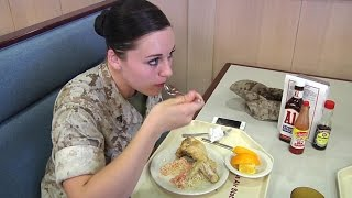 US Marines Mess Hall - What Marines Eat at MCAS Iwakuni, Japan