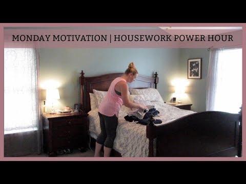 MONDAY MORNING MOTIVATION | HOUSEWORK POWER HOUR