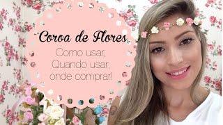 ♥ Coroa de Flores ♥ Menina Palito ♥