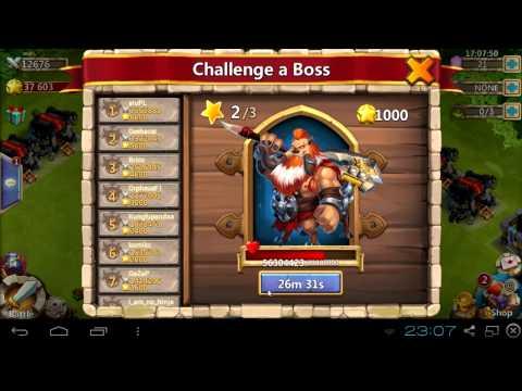 #029 Boss Tier 2 - 3 Min Chain Stun & Boss Problems - Castle Clash