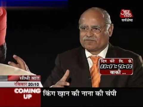 Seedhi Baat Navjot Singh Sidhu  with Prabhu Chawla: 11.03.2007