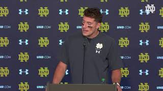 @NDFootball | Ian Book Post-Game Press Conference vs. Pittsburgh (2018)