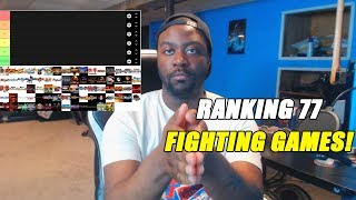 RANKING 77 FIGHTING GAMES! | Rizzy's Fighting Games Tier List