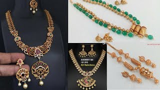 Different Types of New Design Necklaces in Manepally Jewellers | Sogasu Chuda Taramaa