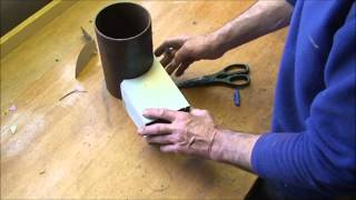 Making a Rocket stove riser tube and creating a vortex inside.