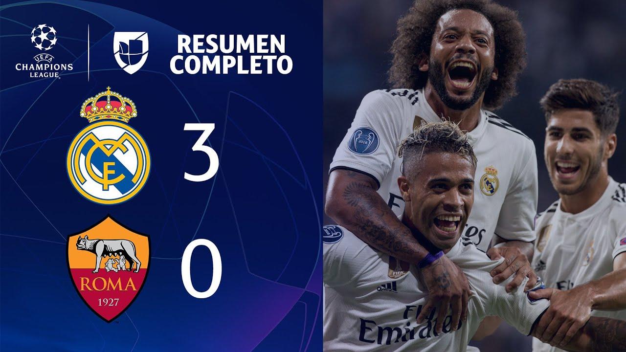 Real Madrid 3-0 Roma - GOLES Y RESUMEN - Grupo G UEFA Champions League