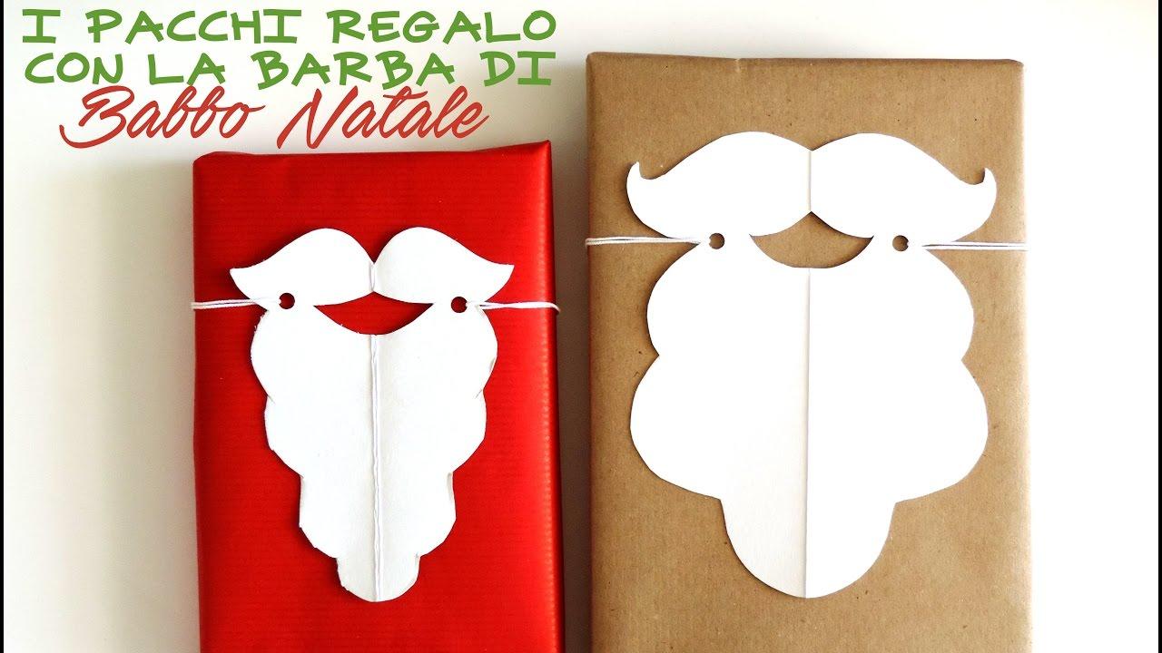 Lavoretti di natale pacchetti con la barba di babbo for Youtube lavoretti per natale