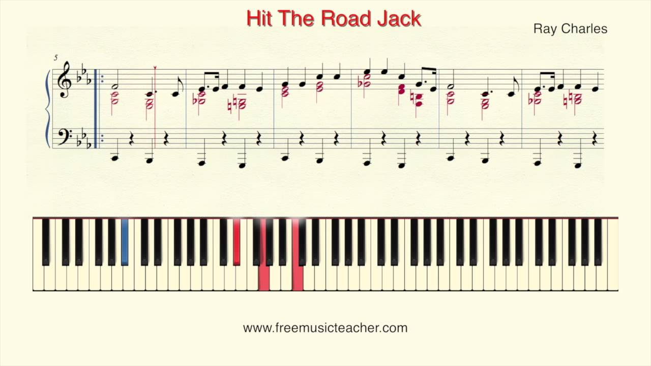 "How To Play Piano: Ray Charles ""Hit The Road Jack"" Piano Tutorial by ..."