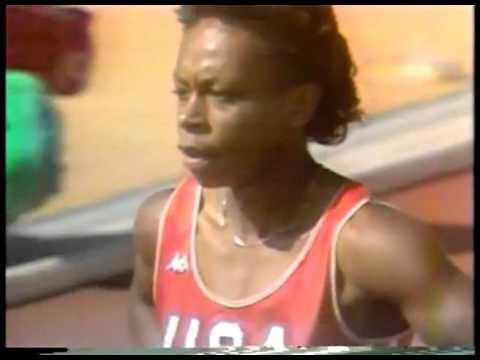 Olympics - 1984 Los Angeles - Track - Womens 100m Heat 2 ...