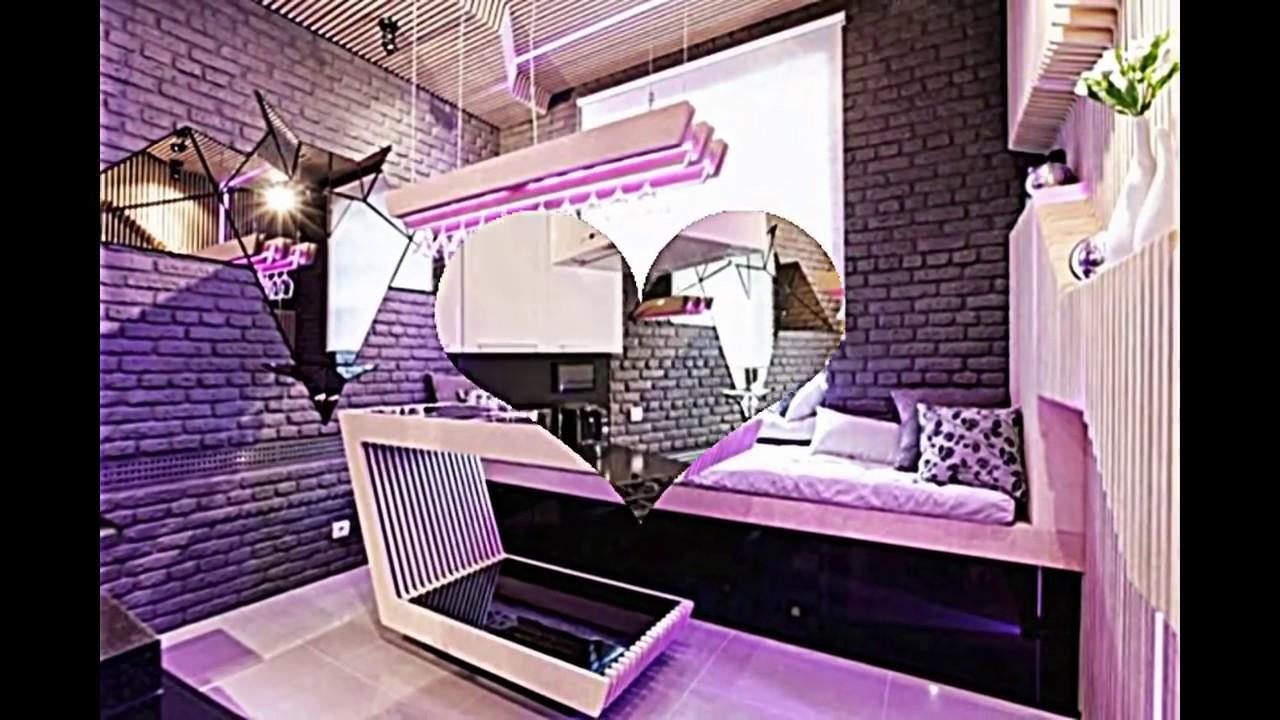 Luxuriöse Kleine Küche Mit Interessanter Wandgestaltung