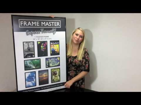 FrameMaster 24x36 Poster Frame Instructions - Movie Poster Frame