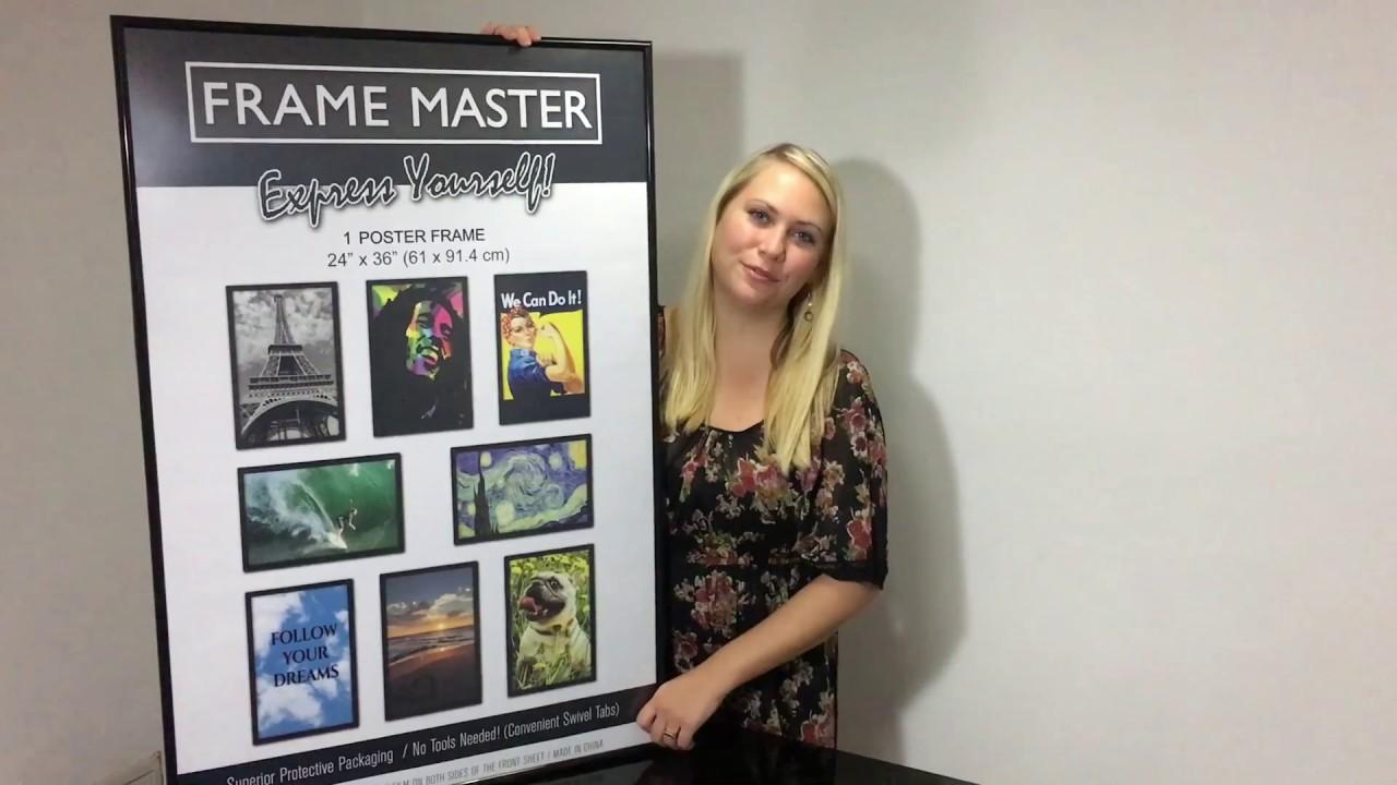 framemaster 24x36 poster frame instructions movie poster frame