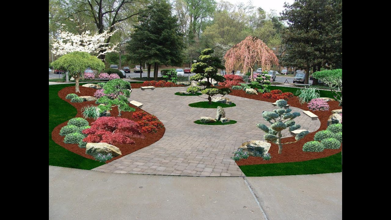 oriental garden design ideas. Japanese Garden  Computer Design Lee s Oriental Landscape Art YouTube