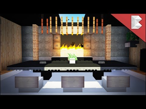 Minecraft Modern Dining Room Tutorial (Interior Design Serie