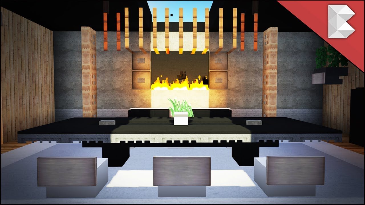 minecraft modern dining room tutorial interior design