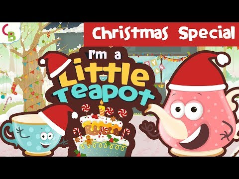 I'm Little Teapot - Christmas Party Songs for Kids   Cuddle Berries Christmas Themed Nursery Rhymes