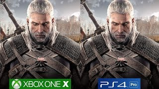 The Witcher 3 Wild Hunt - Xbox One X vs PS4 Pro Graphics Comparison [4K/60fps]