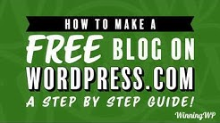 How to Make a Free Blog – on WordPress.com (A Complete Step-by-Step Guide)
