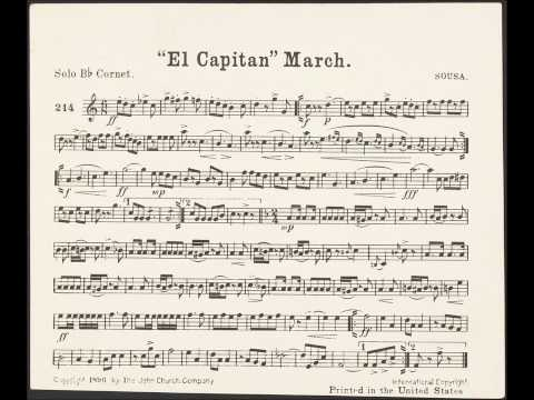 El Capitan March with Solo Cornet Sheet Music