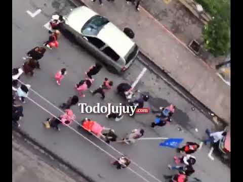 21F en Jujuy: los gremios jujeños marcharon por las calles del centro