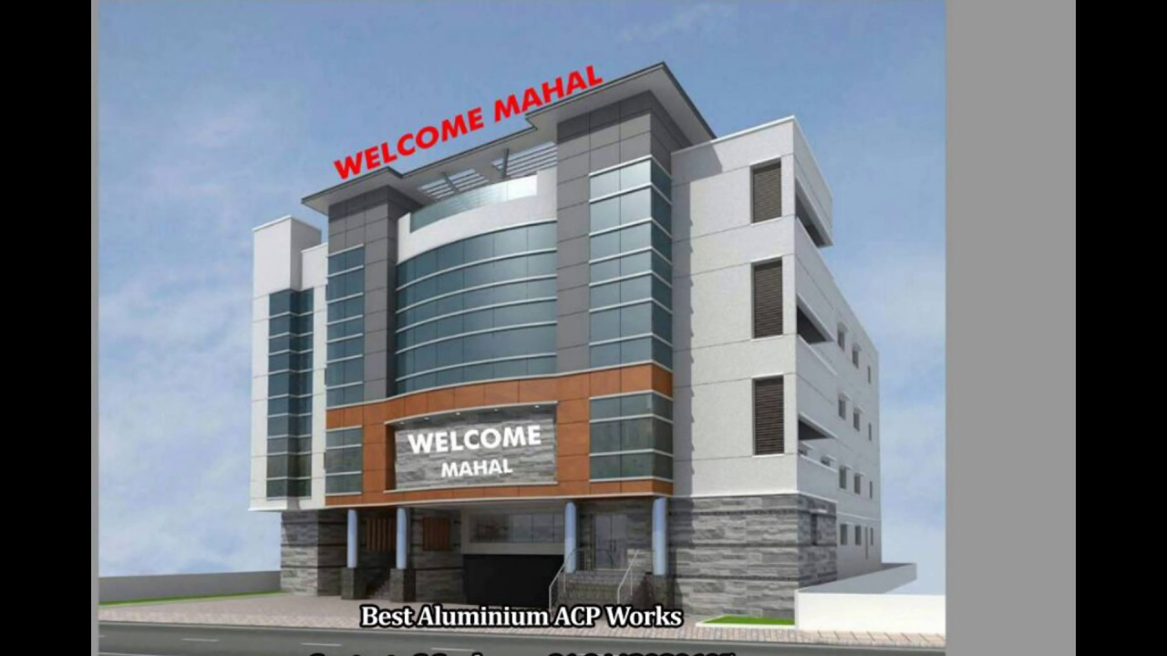 Front Elevation Acp Work : Aluminium composite panel structural glazing