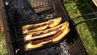 Делаем бананы-гриль в шоколоде