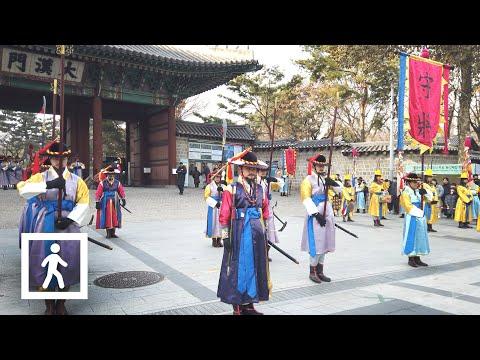 [4K] Changing of the Royal Guard at Deoksugung Palace, Seoul