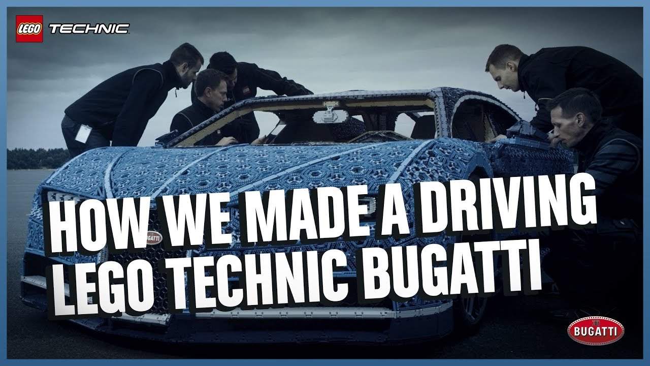 How the LEGO Technic Bugatti Chiron Driving Life Size Model was Made - Documentary